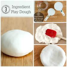 3 ingredient play dough to make in minutes make and takes