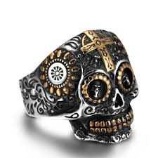 cool skull rings images Real life pirates skull ring fashion steel vintage jewelry jpg