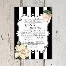 custom bridal shower invitations vintage southern themed bridal shower invitations black white