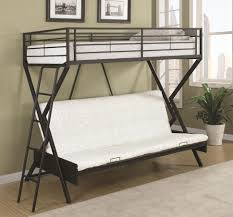 Iron Bunk Bed Designs Bunk Bed With Futon Reg Cool Metal Bunk Beds Santos Twin Over