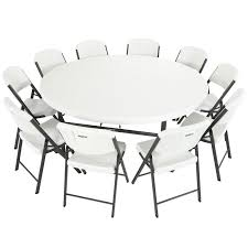 White Round Table And Chairs by Amazon Com Lifetime Combo 4 6 U0027 Round Table And 40 18 5