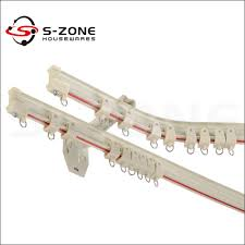 Plastic Curtain Track Brackets Bay Window Fancy Curved Curtain Rail With Double Ceiling Brackets