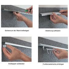 set profilleiste relingsystem linero 2000 l 600 mm edelstahl optik