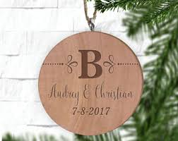 engraved ornaments etsy