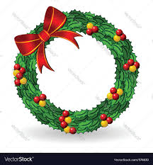 christmas holly wreath royalty free vector image