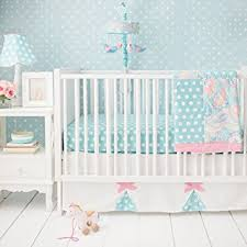 amazon com my baby sam pixie baby 3 piece crib bedding set aqua