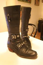 real biker boots studded biker boots trashfashion