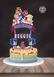 sonic cake topper sonic cake topper sonic birthday sonic party custom and