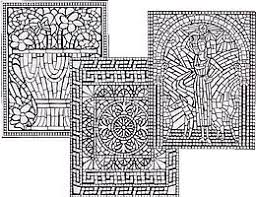 8 rome party mosaics images coloring pages