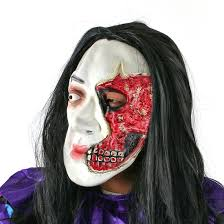 scream halloween mask amazon com yufeng extremely scary rotten face halloween mask with