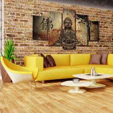 5 piece zen buddha modern home wall decor painting canvas art hd