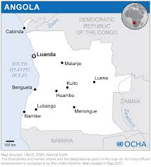Angola Map Angola Reliefweb