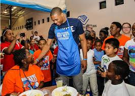 westbrook s new charity hosts thanksgiving in okc and la
