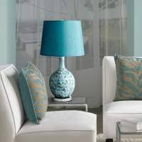 teal bedside table lamps lighting ideas