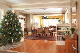 holiday decor wood floor with feizy rug and dining chairs for