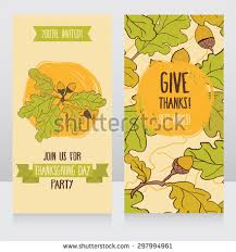 greeting cards thanksgiving day stock vector 297994961