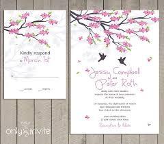cherry blossom wedding invitations cherry blossom wedding invitations marialonghi