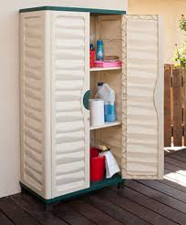 Free Standing Shed Shelves by Outdoor Storage Plastic Utility Cabinet Garden Garage House Shed