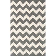 Zig Zag Area Rug Gray 4 X 6 Chevron Area Rugs Rugs The Home Depot
