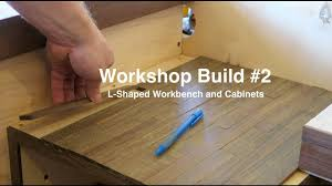 Red L Shaped Vanity Cabinet Workshop Build 2 L Shaped Workbench And Cabinets Youtube