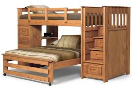 Bedroom  Bunk Beds For Kids Twin Over Full Large Dark Hardwood - Large bunk beds