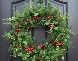 artificial wreath etsy