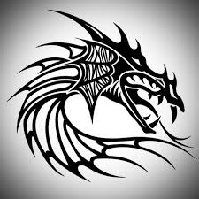 dragon head tribal tattoo designs tattoos clipart library