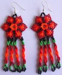 Native American Beaded Earrings Huichol Juego De Aretes De Chaquira De Artesanía Huichol Beads