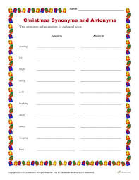 synonyms and antonyms worksheets students and activities