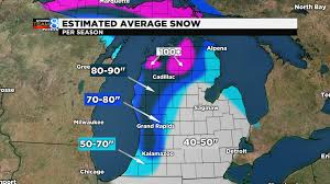 Snow Coverage Map Active Winter Expected For 2017 2018 Woodtv Com