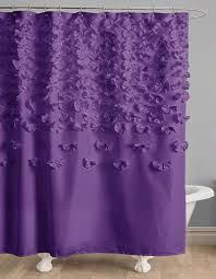 purple shower curtains decor by color
