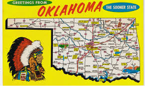 Oklahoma travel maps images Oklahoma postcard vintage postcards greetings from oklahoma jpg