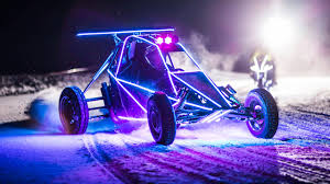 lit up like a christmas tree the barracuda crosskart rips up the snow