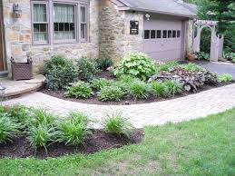 small front yard landscaping ideas wooden chair landscape design