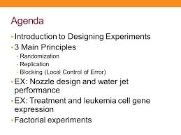basics of designing experiments ppt download