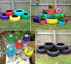 Recycling Ideas For The Garden Recycling Tires Into Garden Decoration Recyclart