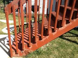 deck stairs railing how to build a wood and stair railings mark