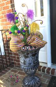 how to make a halloween wreath with mesh ribbon decorate your door for mardi gras southern charm wreaths