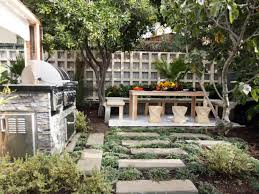 Italian Backyard Design by How To Build An Outdoor Pizza Oven Hgtv