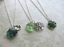 swarovski rings green images Shamrock st patricks day necklaces featuring swarovski clover jpg