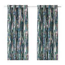 Multi Color Curtains Ikea Curtains 1 Pair Multicolor 428 82317 3034 Kitchen Dining