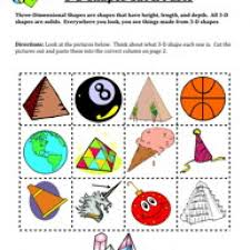 three dimensional shapes worksheets worksheets