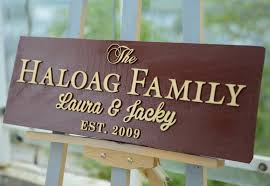 personalized wedding plaque personalized family sign wood name plaque wedding or anniversary gift