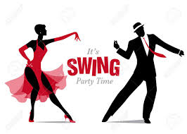 swing jazz silhouettes jazz or swing royalty free