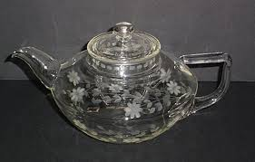 shaped teapot spray engraved pyrex squat shaped teapot with lid pyrex
