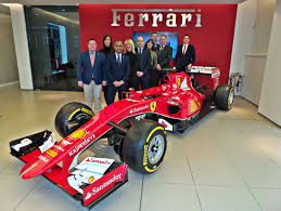 ferrari showroom ferrari dealership named world u0027s best gets 2015 f1 car