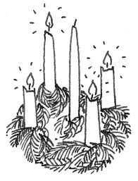 advent wreath template the season of advent advent coloring