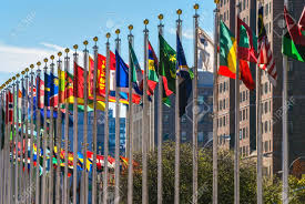 Outside Flag Flags From All Countries Outside Of The Un Building In Manhattan