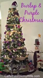 burlap and purple christmas tree diy burlap garland