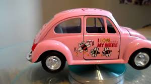 Pink Toy Car Vw Volkswagen Beetle I Love My Beetle Bee Friction